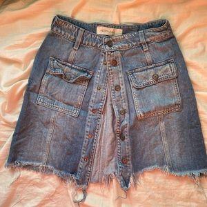 Hidden jeans skirt
